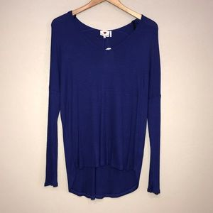 New Jrs One Clothing Blue Thermal Tunic Top XL